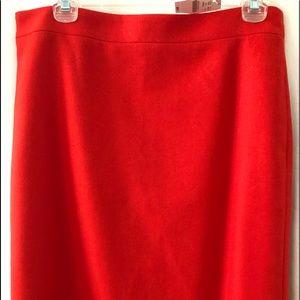 """J. Crew """"The Pencil Skirt"""", 21"""" long,hidden zipper"""
